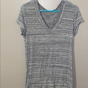 Merona grey and white t-shirt